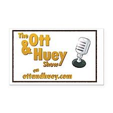 Original Ott  Huey Show Logo Rectangle Car Magnet