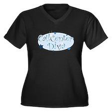 Call Center Diva [blue] Women's Plus Size V-Neck D