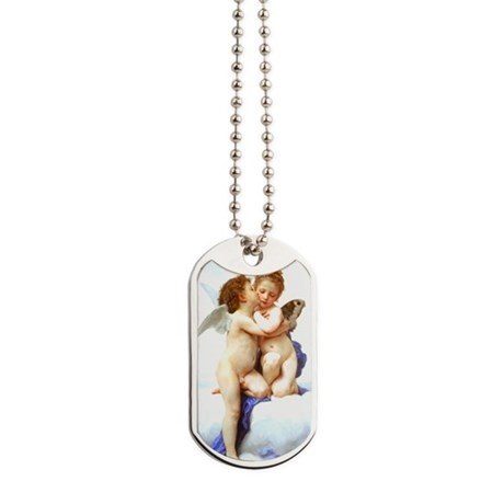 Bouguereau_first_kiss from wiki commons 1 Dog Tags