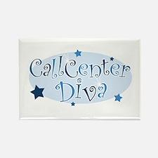 Call Center Diva [blue] Rectangle Magnet