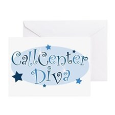 Call Center Diva [blue] Greeting Cards (Package of