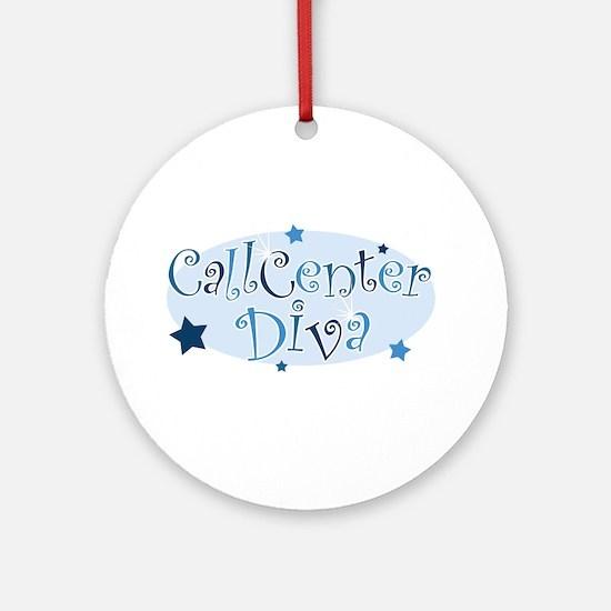 Call Center Diva [blue] Ornament (Round)