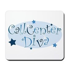 Call Center Diva [blue] Mousepad