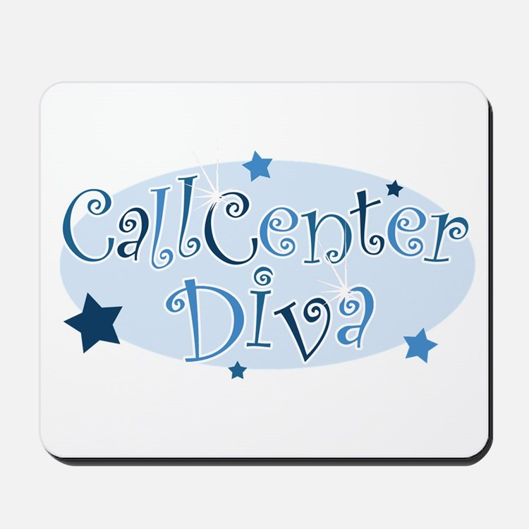 Call Center Diva [blue] Mousepad