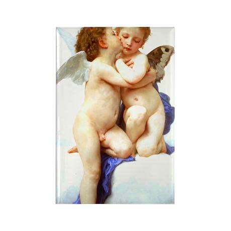 Bouguereau_first_kiss from wiki c Rectangle Magnet