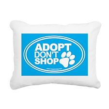 Adopt Dont Shop Teal Rectangular Canvas Pillow