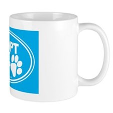 Adopt Dont Shop Teal Mug