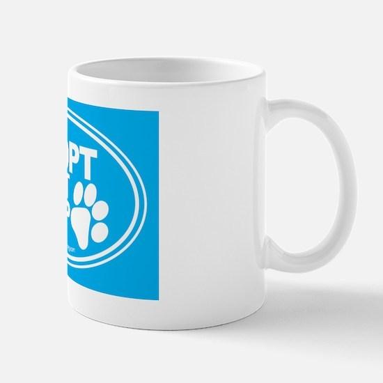 Adopt Dont Shop Teal Mug