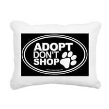 Adopt Dont Shop EURO Ova Rectangular Canvas Pillow