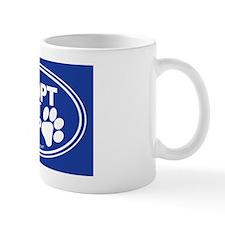 Adopt Dont Shop Blue Mug