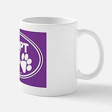 Adopt Dont Shop Purple Small Small Mug