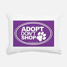Adopt Dont Shop Purple Rectangular Canvas Pillow