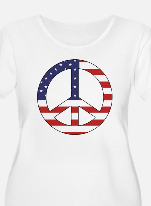 Peace Sign (American Flag) T-Shirt