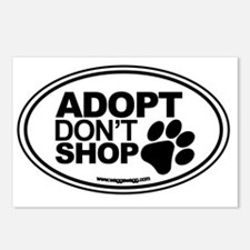 Adopt Dont Shop White-01 Postcards (Package of 8)