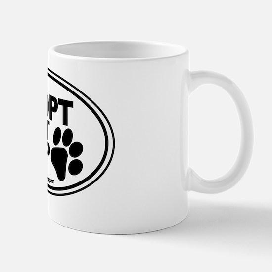Adopt Dont Shop White-01 Mug