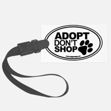 Adopt Dont Shop White-01 Luggage Tag