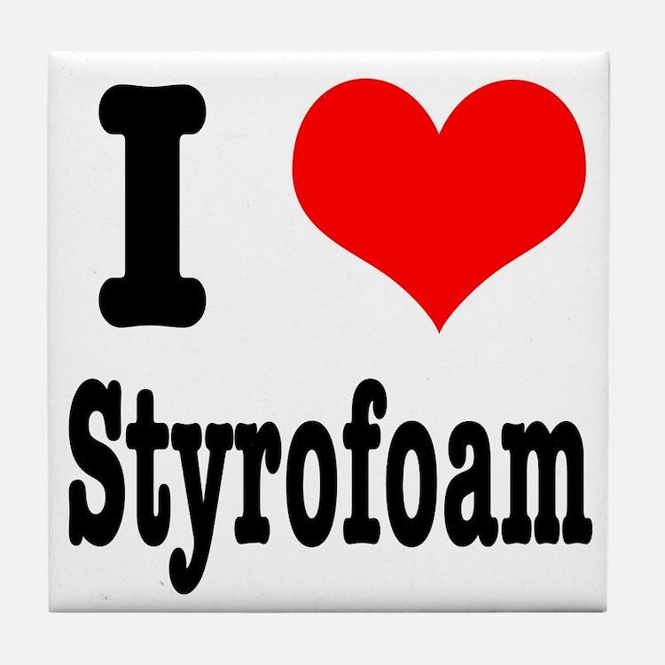 I Heart (Love) Styrofoam Tile Coaster
