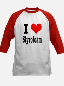 I Heart (Love) Styrofoam Kids Baseball Jersey