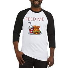 FEED ME WITH BURGER MEAL Baseball Jersey