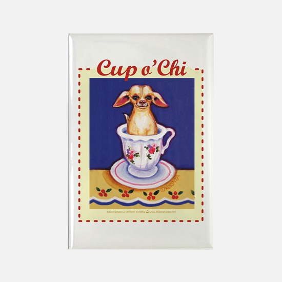 Cup of Chi Rectangle Magnet