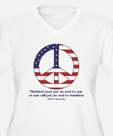 Peace Sign With JFK Quote T-Shirt
