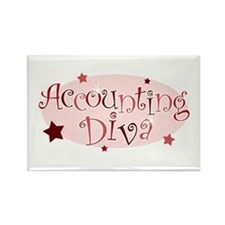 """Accounting Diva"" [red] Rectangle Magnet"