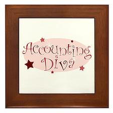 """Accounting Diva"" [red] Framed Tile"