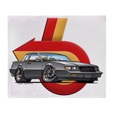 BUICK_GN_Met_Gray Throw Blanket