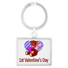 1st Valentines Day Landscape Keychain