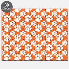 Dog Paws Clemson Orange Puzzle