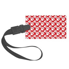 Dog Paws Red Luggage Tag