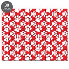 Dog Paws Red Puzzle