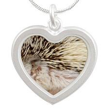 Rosie Hedgehog Silver Heart Necklace