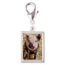 This Little Piggy Silver Portrait Charm