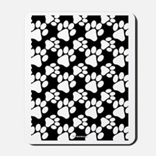 Dog Paws Black Mousepad