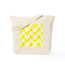 Dog Paws Yellow Tote Bag
