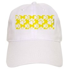 Dog Paws Yellow Baseball Cap