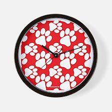 Cute Dog Paws Wall Clock