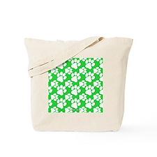 Dog Paws Green Tote Bag