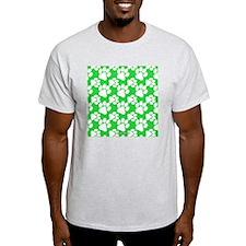 Dog Paws Green T-Shirt