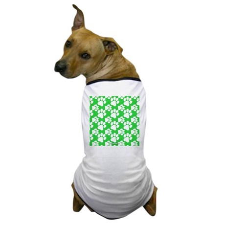 Dog Paws Green Dog T-Shirt