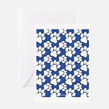Dog Paws Royal Blue Greeting Card