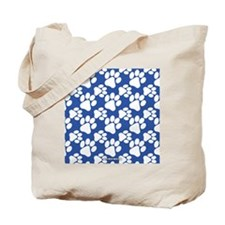 Dog Paws Royal Blue Tote Bag