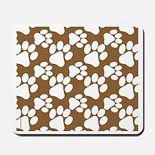 Dog Paws Brown-Small Mousepad