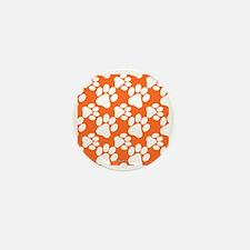 Dog Paws Clemson Orange Mini Button