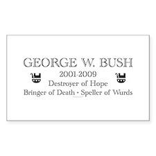 "George W. Bush ""Obituary"" Rectangle Decal"