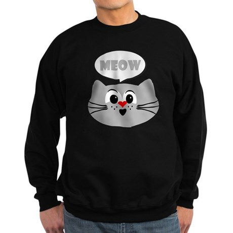 meow cat design Sweatshirt (dark)