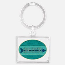 Cross Country Running Collage Landscape Keychain