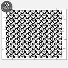 Dog Paws Black Puzzle