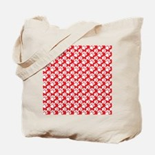 Dog Paws Red Tote Bag